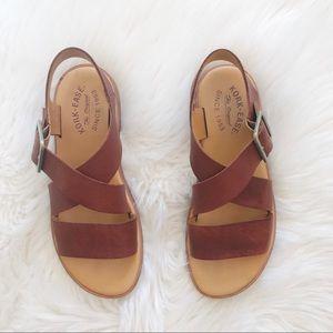 Kork Ease Brown Leather Sandals